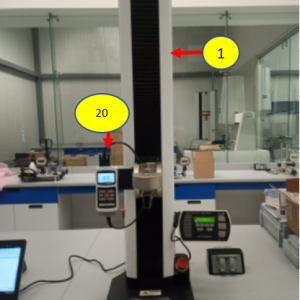 Base Mark-10 750 con indicador digital de fuerza y torque